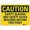 Recycled Aluminum General PPE Protection Sign with Caution Header, 7 in. H x 10 in. W