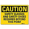 Vinyl General PPE Protection Sign with Caution Header, 7 in. H x 10 in. W