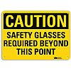 Recycled Aluminum Eye Protection Sign with Caution Header, 7 in. H x 10 in. W