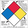 NFPA Diamond Label, Paper, No Text, 4