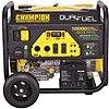 Electric/Recoil Gasoline/Liquid Propane Portable Generator,8000W,Dual Fuel, 10,000/9025 Surge Watts,