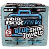 Toolbox® Z400 Big Grip® General Purpose Blue Shop Towels Roll, 6 Pk of 55