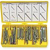 Low Carbon Steel Extended Prong Cotter Pin Assortment, Zinc Plated, 550 Pieces