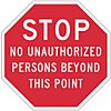 Recycled Aluminum Authorized Personnel and Restricted Access Sign with No Header; 12 in. H x 12 in. W