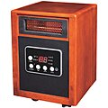 Electric Wooden Box Heater, Convection, 120VAC, 5200 BTU, Wood
