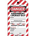 Danger Tag, Plastic, Equipment Locked Out, 7-1/2