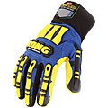 Cold Protection Gloves, Polyester Lining, Knit Wrist Cuff, Blue/Yellow, L, PR 1