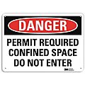 Confined Space, Danger, Recycled Aluminum, 14