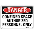Confined Space, Danger, Recycled Aluminum, 10