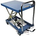 Mobile Manual Lift, Manual Push Scissor Lift Table, 660 lb. Load Capacity, Lifting Height Max. 30-1/