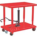 Mobile Manual Lift, Manual Push Lift Table, 4000 lb. Load Capacity, Lifting Height Max. 54