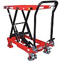 Mobile Manual Lift, Manual Push Scissor Lift Table, 660 lb. Load Capacity, Lifting Height Max. 35