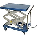 Mobile Manual Lift, Manual Push Scissor Lift Table, 660 lb. Load Capacity, Lifting Height Max. 47-13