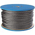 Flexible Wire Rope, Galv. ST, 1/8in, 500 ft
