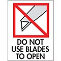 Shipping Labels, Do Not Use Blades to Open, 3
