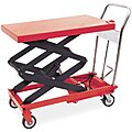 Mobile Manual Lift, Manual Push Scissor Lift Table, 800 lb. Load Capacity, Lifting Height Max. 51