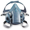 3M Half Mask Respirator, Respirator Connection Type: Bayonet, Mask Size: M