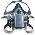 3M Half Mask Respirator, Respirator Connection Type: Bayonet, Mask Size: L