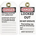 Danger Tag, Polyester, Locked Out Do Not Operate This Lock/Tag May Only Be Removed By, 5-1/2