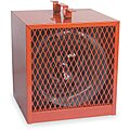 Portable Electric Heater, Fan Forced, 208/240VAC, 16,380 / 12,285 BTU, Red