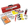 Portable Lockout Kit, Filled, General Lockout, Tool Box, Red