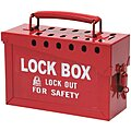 Red Steel Group Lockout Box, Max. Number of Padlocks: 13, 6