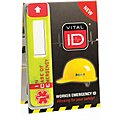 Vinyl Hard Hat I.D. with Data Window, 3/4