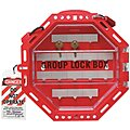 Red Plastic Group Lockout Box, Max. Number of Padlocks: 42, 13