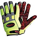 Cold Protection Gloves, Fleece Lining, Knit Wrist Cuff, Hi-Visibility Lime, XL, PR 1