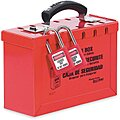 Red Steel Group Lockout Box, Max. Number of Padlocks: 12, 6