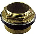 Brass and Rubber Inlet Spud, Brass, For Use With Toilets, For Use With Grainger Item Number 5NTV8, 9181814