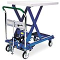 Mobile Manual Lift, Manual Push Scissor Lift Table, 1100 lb. Load Capacity, Lifting Height Max. 36-1