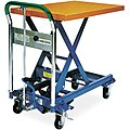 Mobile Manual Lift, Manual Push Scissor Lift Table, 330 lb. Load Capacity, Lifting Height Max. 29