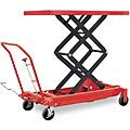 Mobile Manual Lift, Manual Push Scissor Lift Table, 1500 lb. Load Capacity, Lifting Height Max. 59