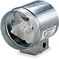 Galvanized Steel Axial Duct Booster, Fits Duct Dia. 6