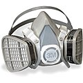 3M Half Mask Respirator, Respirator Connection Type: Fixed, Mask Size: M