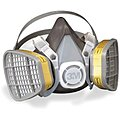3M Half Mask Respirator, Respirator Connection Type: Fixed, Mask Size: L