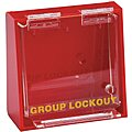 Red Plastic Group Lockout Box, Max. Number of Padlocks: 10, 7-1/2
