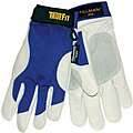 Cold Protection Gloves, Thinsulate Lining, Shirred Cuff, Blue/Pearl Gray, L, PR 1