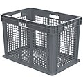 Straight Wall Container, Gray, 16-1/8