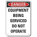 Machine and Operational, Danger, Recycled Aluminum, 10