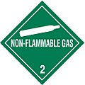 Non-Flammable Gas 2, Class 2 Vinyl Shipping Labels