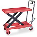 Mobile Manual Lift, Manual Push Scissor Lift Table, 1000 lb. Load Capacity, Lifting Height Max. 35-1