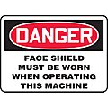 Sign-Face Shield Must Be Worn