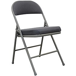 Padded Folding Chair,Gray,300