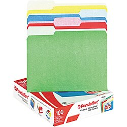 Letter File Folders,Assorted,