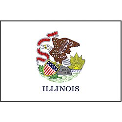 Illinois State Flag,3x5 Ft