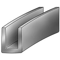 Edging,Epdm,A,1/2 x 5/8 In,100