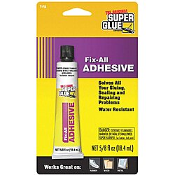 Fix All Adhesive,5/8 Fl. Oz.