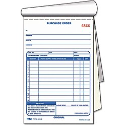 Purchase Order Book, 2 Part